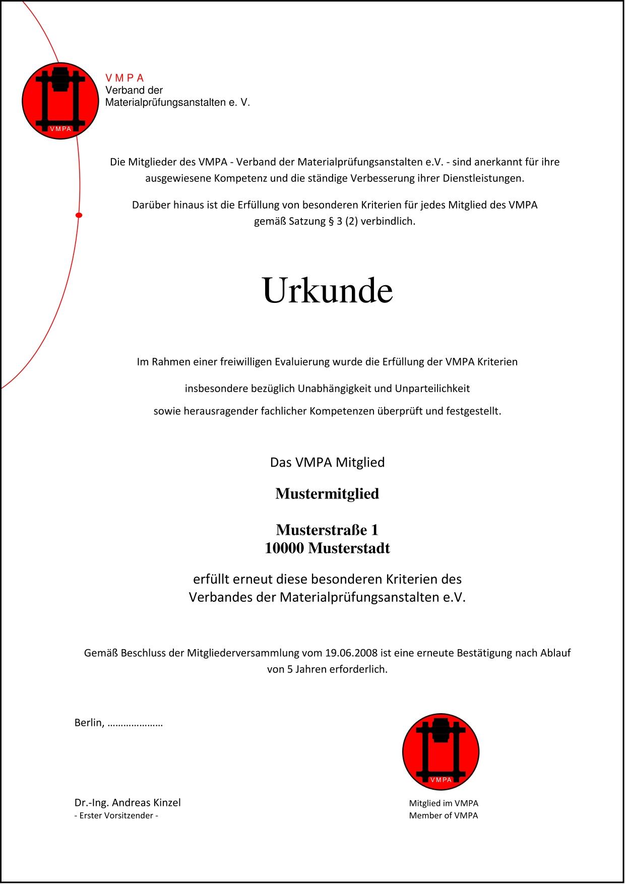 vmpa mitgliedschaft - Mitgliedsantrag Verein Muster